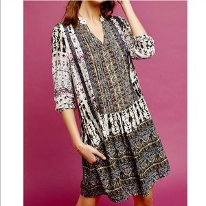 Tiny Mollie Mixed Print Boho Tunic Dress| M